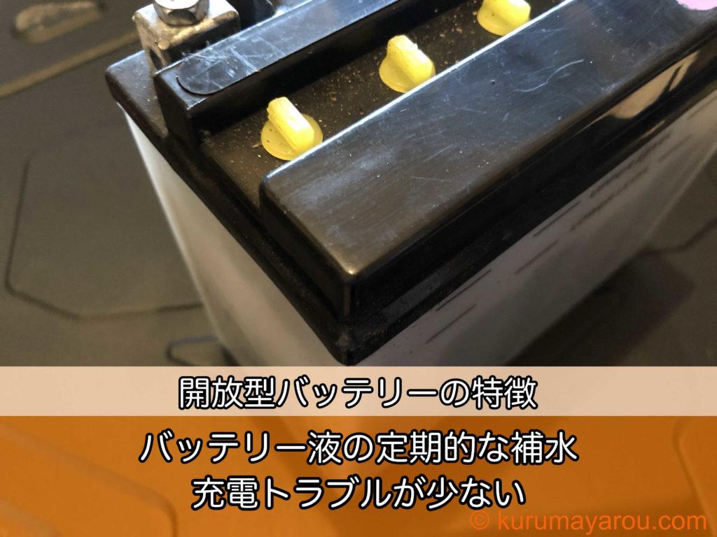 開放型バッテリーの特徴